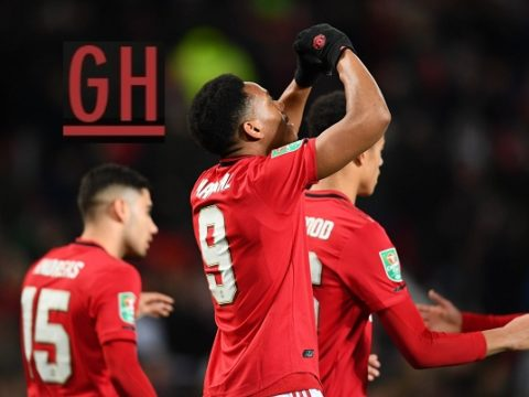 Manchester United 3-0 Colchester - Carabao Cup 2019-2020 footballgh.org